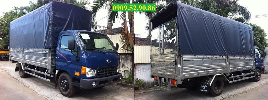 xe tải hyundai hd65 thùng bạt imox 2,5 tấn