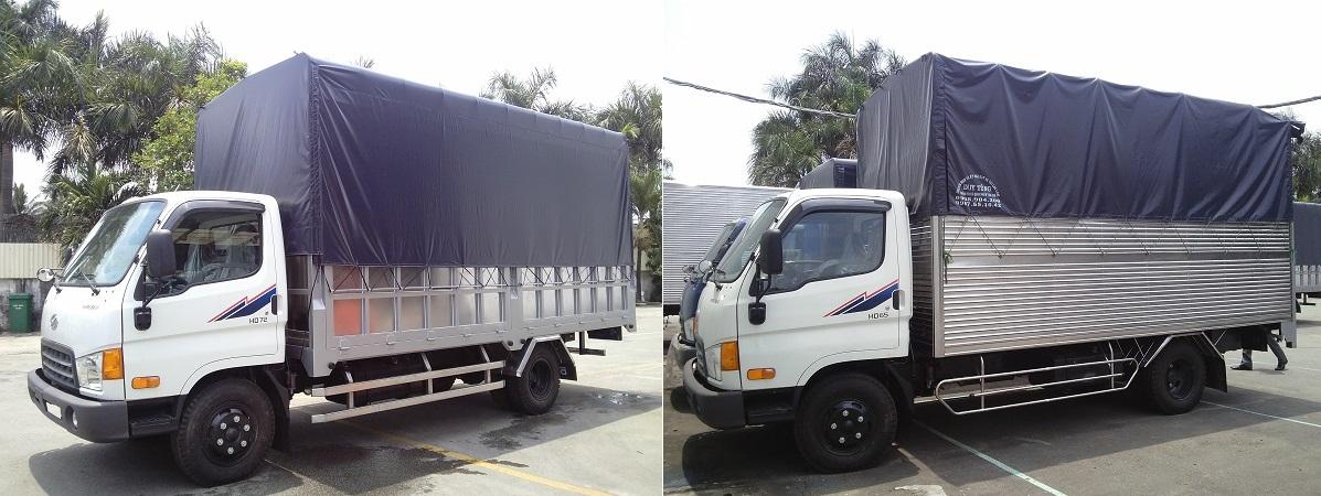 xe tai hyundai hd65 thùng bạt 2t5